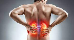 Man feeling pain in his lower back