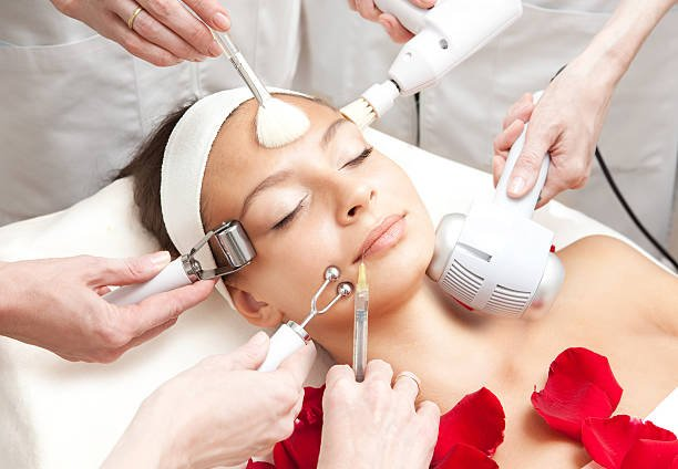 Spa Salon: Young Beautiful Woman Having Various Facial Treatment. Please, view my other pictures of this series below: